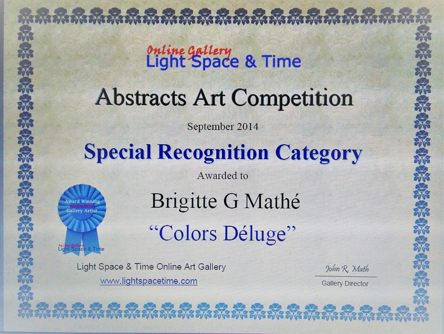 Brigitte Mathé (MBL) - Abstract Art Competition Special Recognition