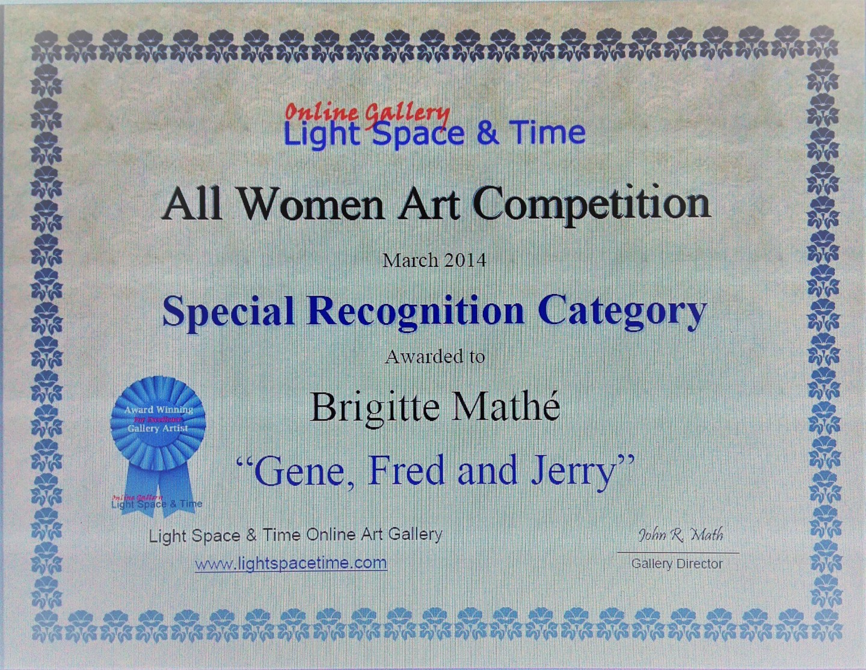 Brigitte Mathé (MBL) - All women Art Competition Special Recognition