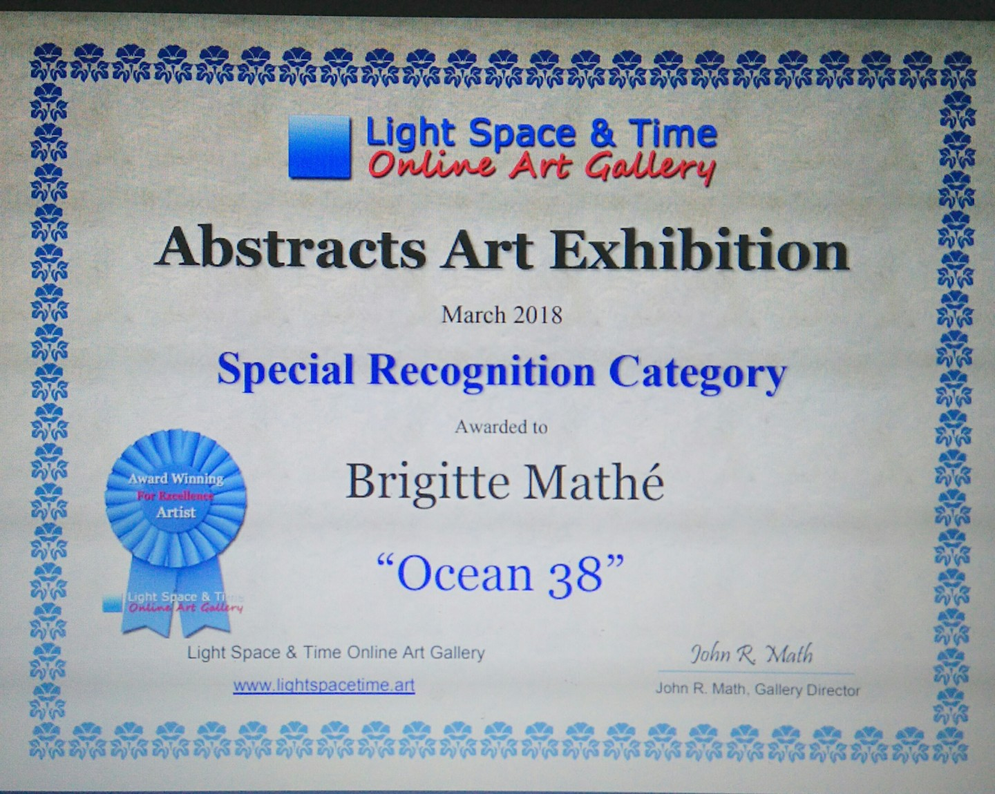 Brigitte Mathé (MBL) - Abstracts Art Competition Special Recognition