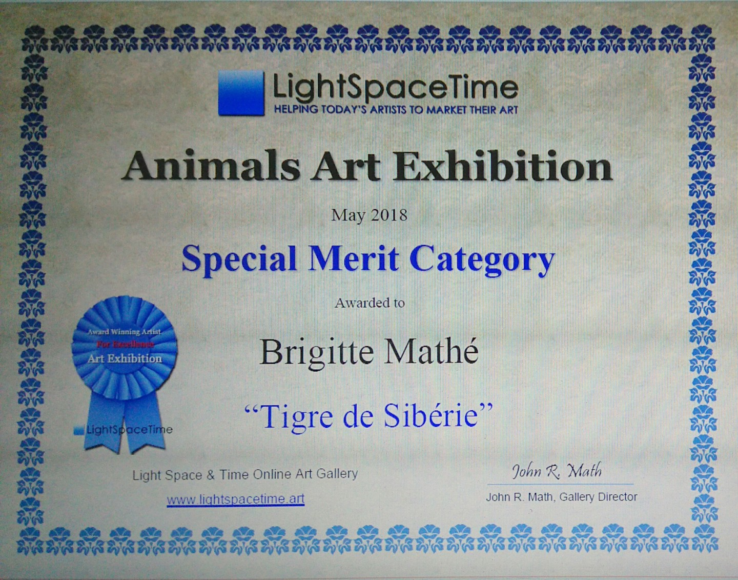 Brigitte Mathé (MBL) - Animals Art Competition Special Merit