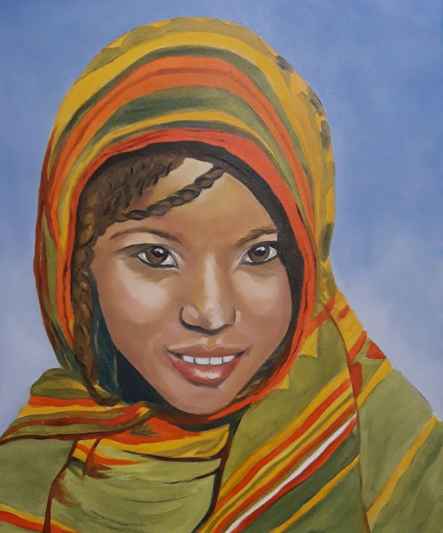 Brigitte Mathé (MBL) - Jeune fille des Afars (Ethiopie)