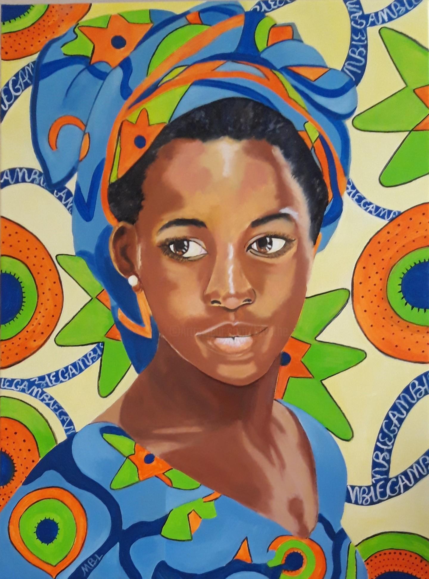 Brigitte Mathé (MBL) - Jeune Femme de Gambie