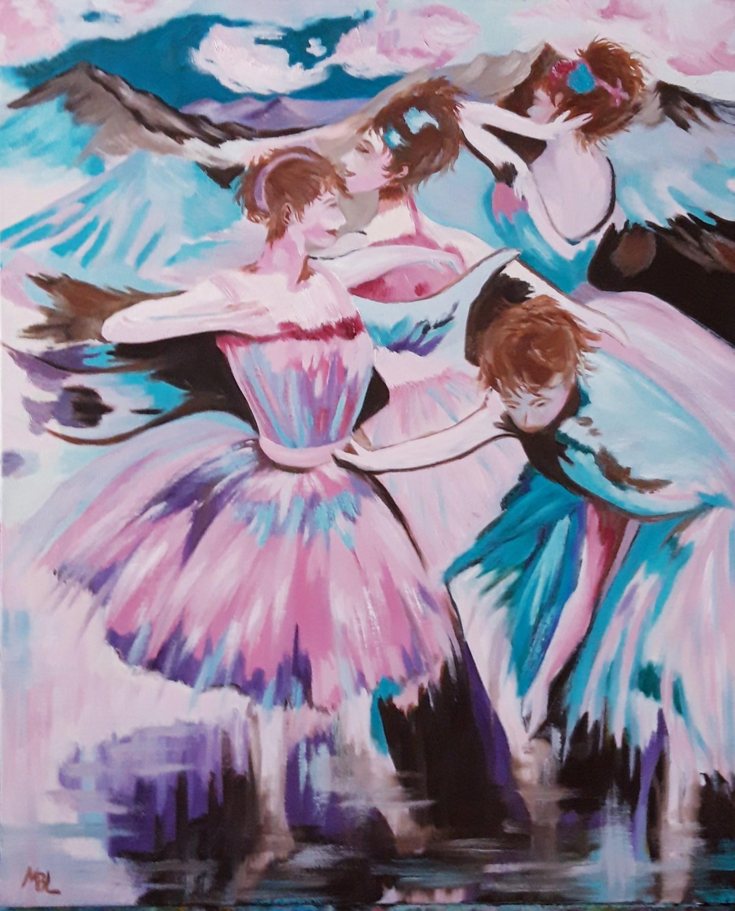 Brigitte Mathé (MBL) - Repos des danseuses
