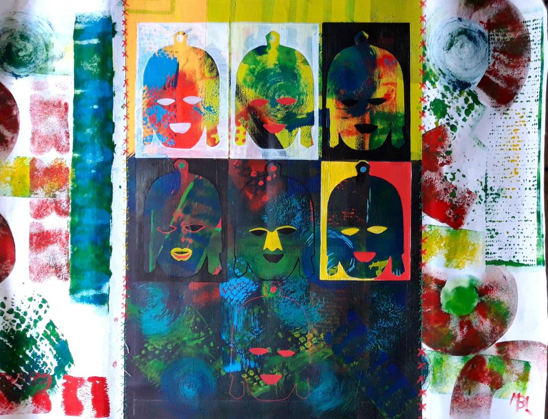 Brigitte Mathé (MBL) - Masques Africains 1
