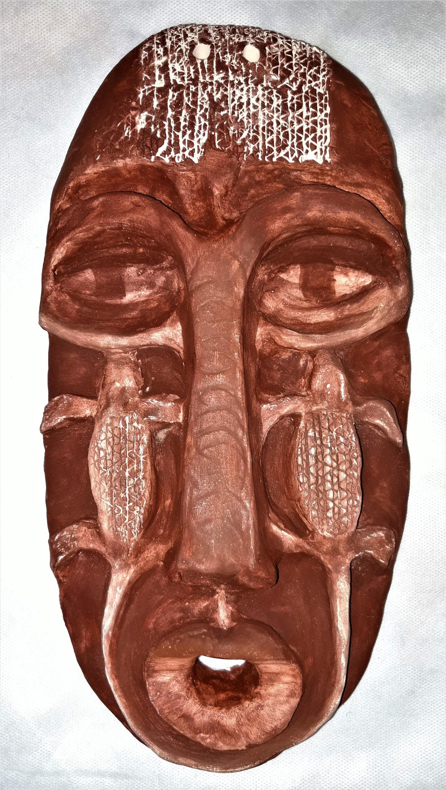 Brigitte Mathé (MBL) - Masque Africain sculpture