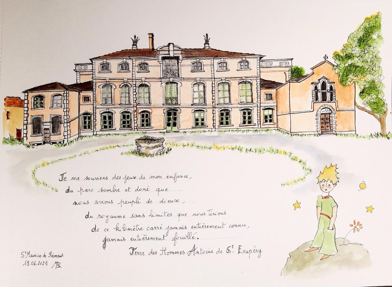 Brigitte Mathé (MBL) - Le château d'Antoine de St Exupéry