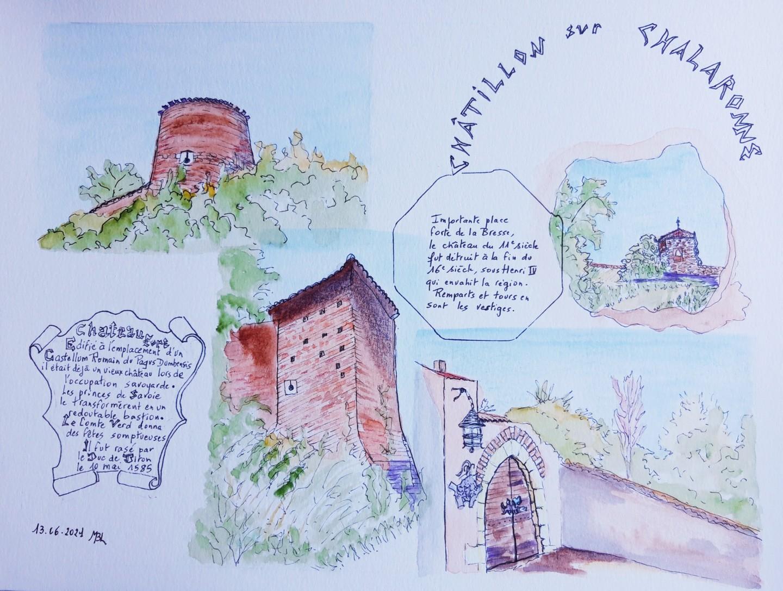 Brigitte Mathé (MBL) - Le château de Châtillon sur Chalaronne