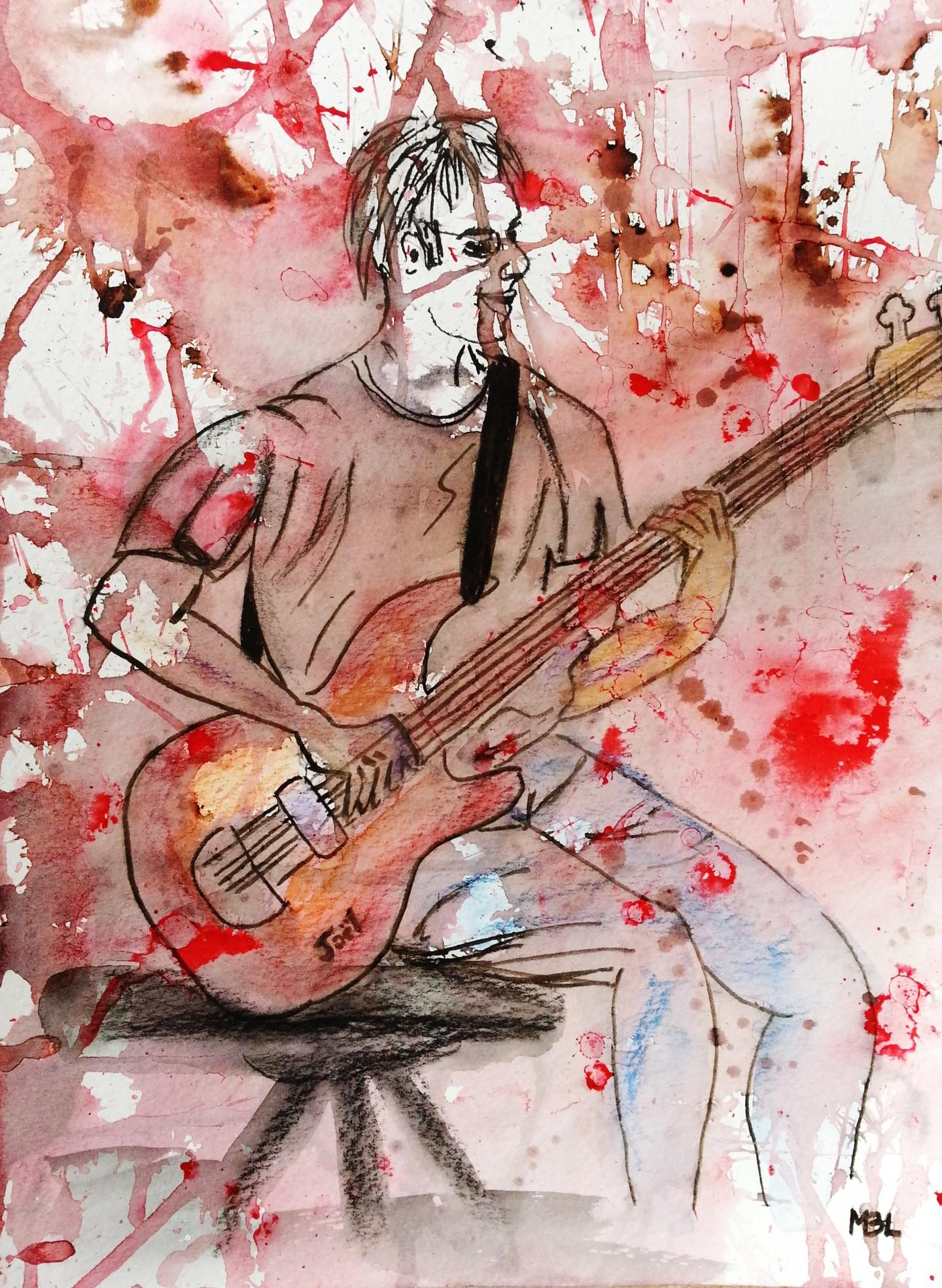 """Brigitte Mathé (MBL) - Jeune guitariste """"série Modèle"""""""