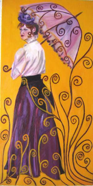 Jeune femme à l'ombrelle, à la manière de Klimt