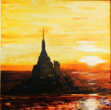 Coucher de soleil sur le Mont St Michel