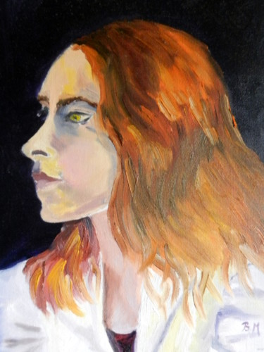 """Jeune femme aux cheveux roux """"série Modèle"""""""