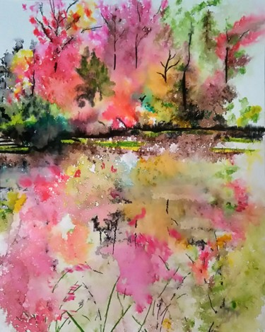 L'étang de Monet à l'automne 1