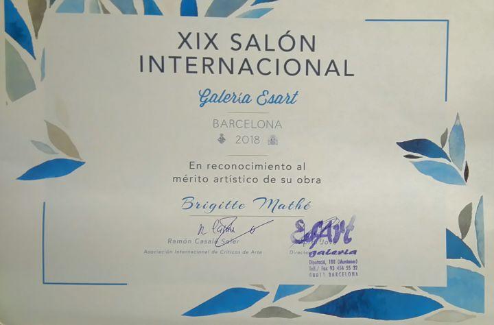Brigitte Mathé (MBL) - 1er prix XIXème salon international Barcelone