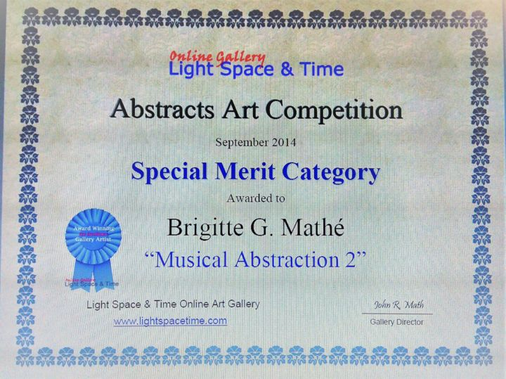 MBL Brigitte Mathé - Abstract Art Competition Special Merit