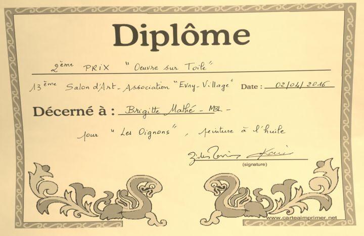 MBL Brigitte Mathé - 2ème Prix de Peinture à l'huile sur toile