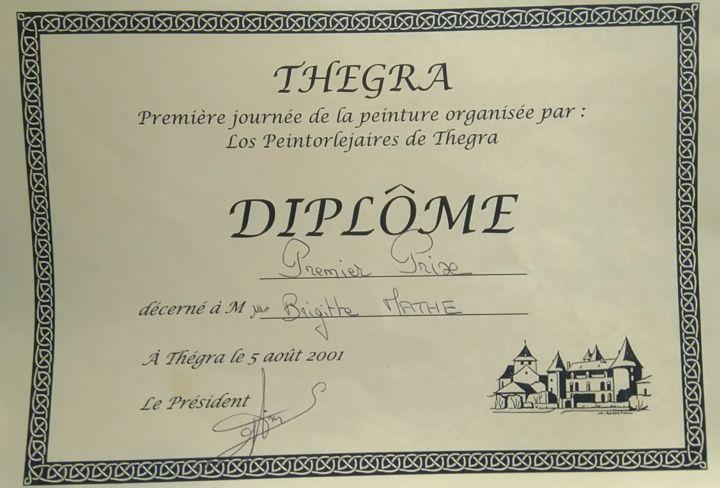 Brigitte Mathé - 1er Prix d'Aquarelle